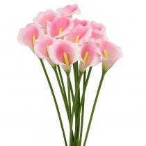 Calla Kwiat dekoracyjny różowy 57cm 12szt