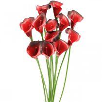 Kwiaty sztuczne Calla Red Bordeaux w wiązce 57cm 12szt.