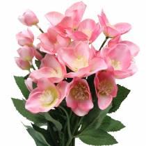 Bukiet Świąteczny Róże Różowe 29cm 4szt