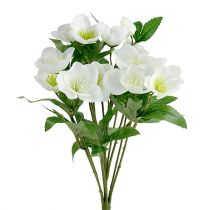 Świąteczny Bukiet Róż 39cm Kremowy