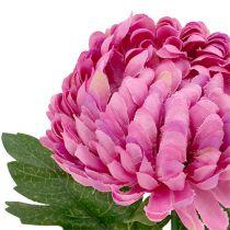 Chryzantema różowa sztuczna Ø7cm L18cm