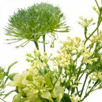 Kwiaty jedwabne, Bukiet sztuczny, Dekoracja kwiatowa z ostów 40cm