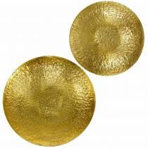 Miska dekoracyjna Golden Metal Ø35/46cm Zestaw 2 szt.