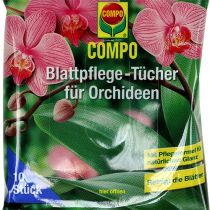 Chusteczki do liści Compo dla storczyków 10szt