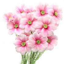 Cosmea sztuczna różowa 77cm 3szt.