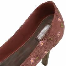 Deco Shoe Planter Pump Brown 24cm × 8cm H13.6cm