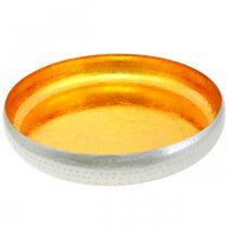 Miska dekoracyjna metalowa okrągła złota