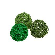 Kule dekoracyjne zielone mix Ø5cm 36szt.