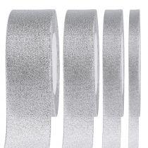 Wstążka Deco srebrna różne szerokości 22,5m