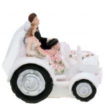 Dekoracja para młoda na traktorze H10cm