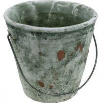 Wiaderko dekoracyjne, doniczka, wiaderko ceramiczne antyczny wygląd Ø19,5cm H19cm