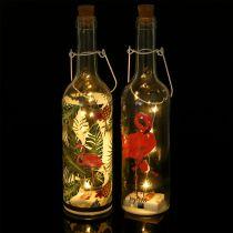 Deco Bottle LED Flamingo 37,5cm Ciepła biel 2szt.