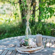 Butelka dekoracyjna, zawieszka butelka, szklany wazon do wypełnienia, świecznik