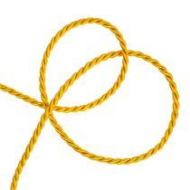 Sznurek ozdobny żółty 4mm 25m