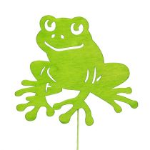 Wtyczka dekoracyjna żaba zielona 7cm - 10cm 12szt