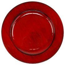 Płytka dekoracyjna plastikowa Ø28cm czerwono-czarna