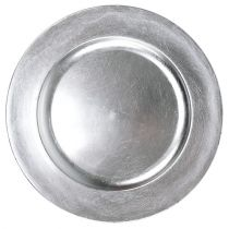 Talerz dekoracyjny srebrny Ø28cm