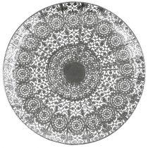 Talerz dekoracyjny srebrny z motywem Ø35cm