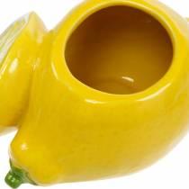 Deco Pot Cytryna Wazon Cytrusowy Ceramiczny Letnia Dekoracja