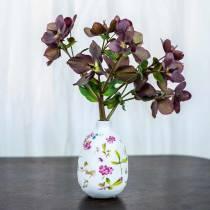 Wazon Deco Biały Kwiatowy Ø11cm H17,5cm