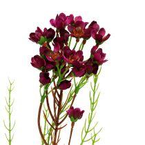 Gałązka dekoracyjna z kwiatami Erika 80cm 3szt.