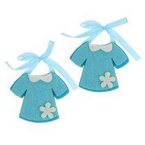 Dekoracja Urodzinowa Sukienka Filcowa Niebieska 7cm 20szt