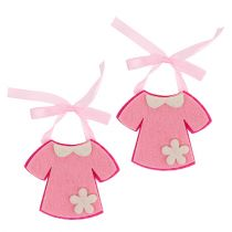 Dekoracja Urodzinowa Sukienka Filcowa Różowa 7cm 20szt