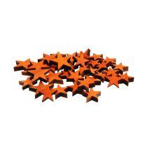 Gwiazdy drewniane mix pomarańczowy do rozsypywania 3-5cm 72szt.