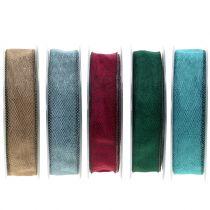 Wstążka dekoracyjna kolorowa 25mm 20m