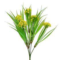 Deco trawa z kwiatami żółty, zielony L30cm