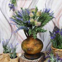 Deco Jug Antique Look Vase Vintage Metal Garden Decoration H26cm