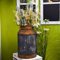 Deco Milk Can Vintage Look Metal Planter Garden Decoration H35cm