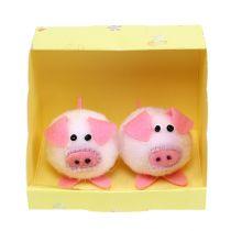 Ozdobny zestaw 5 cm różowej świnki