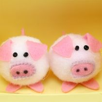 Zestaw Deco Piggy Pink 5cm