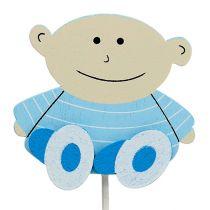 Korek dekoracyjny baby blue 5cm L25cm 20szt.