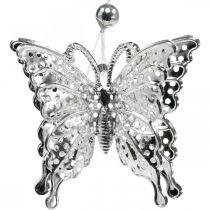 Zawieszka dekoracyjna motyl, dekoracja ślubna, metalowy motyl, wiosna 6szt.