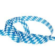 Taśma dekoracyjna niebiesko-biała 15mm 20m