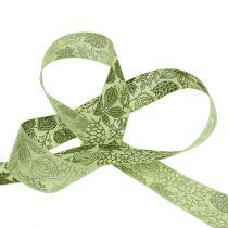 Wstążka prezentowa jesienne liście 25mm 18m