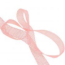 Wstążka dekoracyjna koronka 21mm 20m różowa