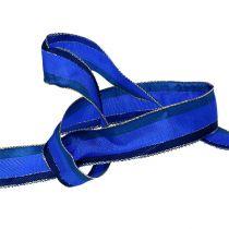Taśma dekoracyjna z krawędzią z drutu niebieskiego 25mm 20m