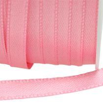 Wstążka prezentowa różowa 6mm x 50m