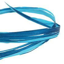 Rafia dekoracyjna dwukolorowa niebieska 200m