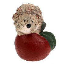 Figurka dekoracyjna jeż na jabłku 7,5cm ceramika