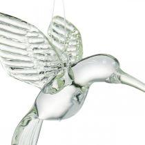 Dekohänger Koliber, szklana dekoracja, rajski ptak, szklany wisiorek, ptak deco