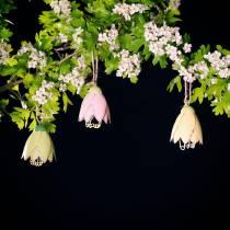 Wieszak dekoracyjny kwiatek metal pastelowy 9cm 4szt