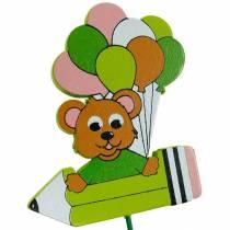 Przypinki dekoracyjne z misiem i balonami przypinki kwiatowe letnia dekoracja dzieci 16szt