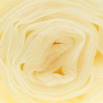 Kremowa tkanina dekoracyjna z organzy 150 cm x 300 cm