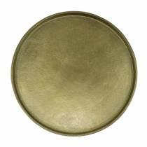 Płytka dekoracyjna gliniana Ø20cm Złota