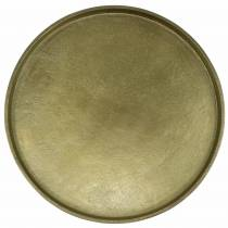 Płytka dekoracyjna gliniana Ø30cm Złota