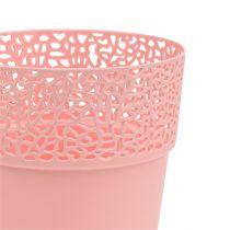 Garnek dekoracyjny plastikowy różowy Ø13cm W13,5cm 1szt